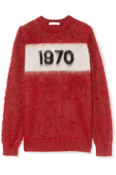 1970 Mohair-Blend Sweater, Red