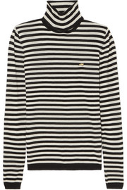 Striped cashmere turtleneck sweater