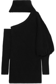 Convertible cutout cashmere turtleneck sweater