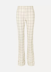 Ralph & Russo Checked wool-blend flared pants