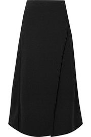 Beaufille Luna wrap-effect jersey midi skirt