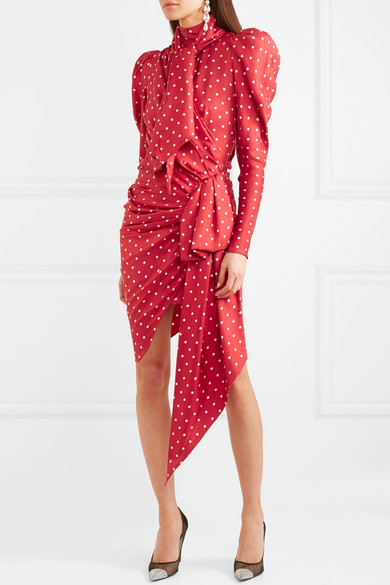 latest fashion great deals official images Alexandre Vauthier | Asymmetric polka-dot silk-twill mini ...