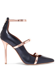 Malone Souliers by Roy Luwolt Robyn 100 metallic leather pumps