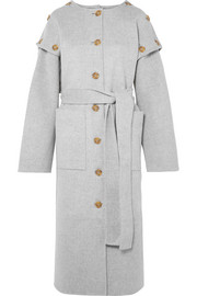 REJINA PYO Simone button-detailed wool-blend felt coat