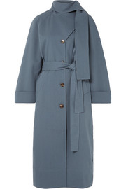 REJINA PYO Riley belted cotton-blend trench coat