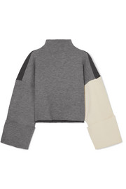 Parker color-block ribbed-knit sweater