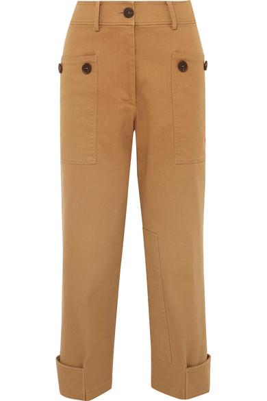 REJINA PYO Hazel cropped cotton-blend twill straight-leg pants