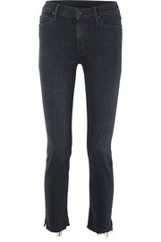 The Rascal cropped frayed mid-rise slim-leg jeans