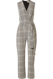 Julia Prince of Wales checked silk-crepe jumpsuit