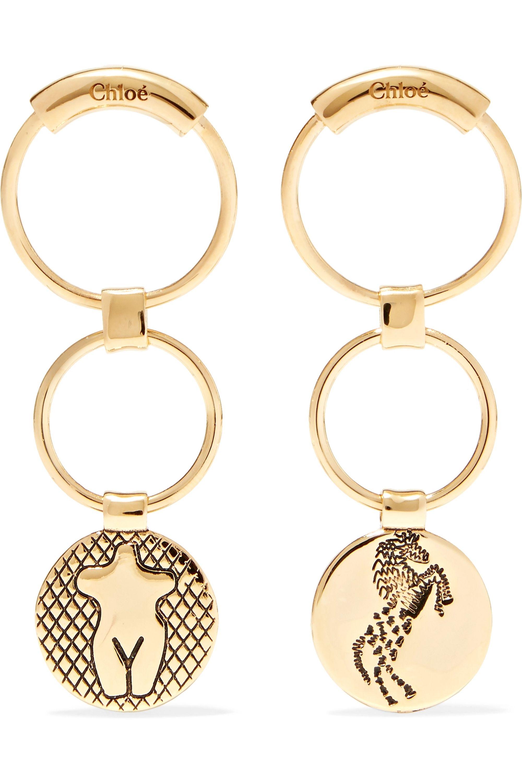 Chloé Femininities gold-tone earrings