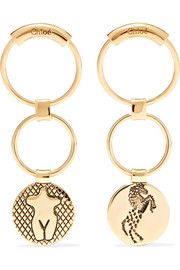 Chloé Femininities gold-tone earrings