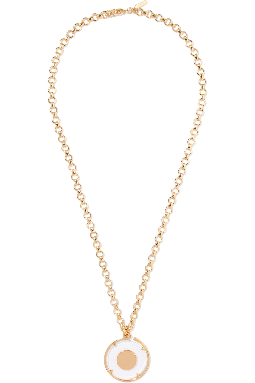 Chloé Terry gold-tone and Plexiglas necklace