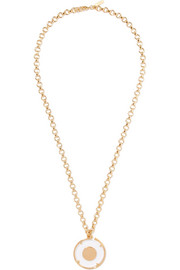 Terry gold-tone and Plexiglas necklace