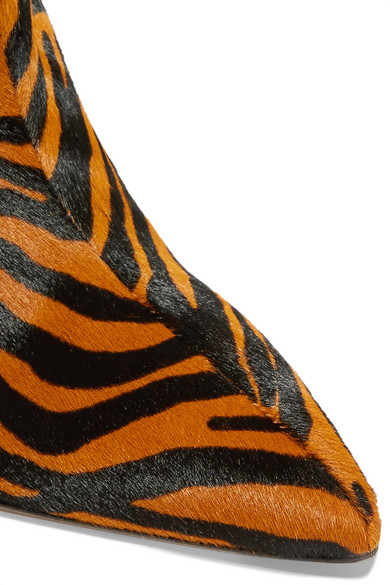 Attico Betta Crystal Embellished Tiger Print Calf Hair