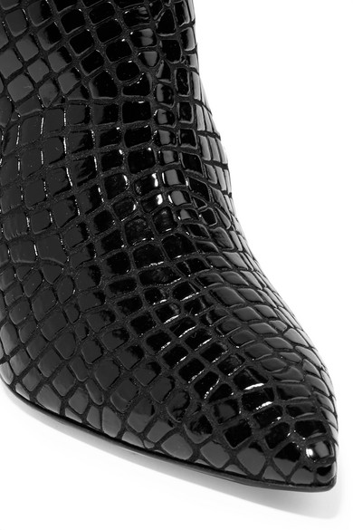 ca2883c1eac Attico. Asia croc-effect leather over-the-knee boots.  1
