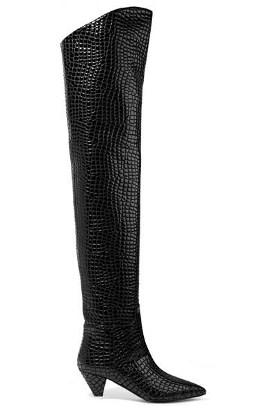 Attico Overknees | Asia Overknees Attico aus Leder mit Krokodileffekt 97c586
