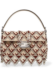 Fendi Baguette fringed beaded leather shoulder bag