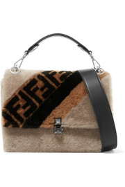 Kan I shearling shoulder bag