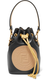 Fendi Mon Tresor appliquéd leather bucket bag