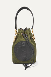 Fendi Mon Trésor small suede and leather bucket bag