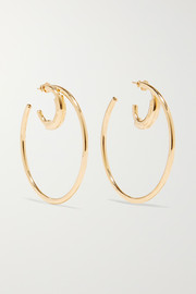 Chloé Reese gold-tone hoop earrings