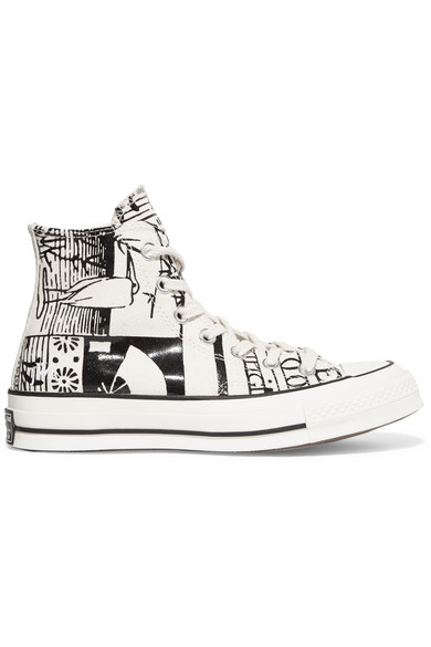 383566923195 Converse. + JW Anderson Chuck Taylor All Star printed canvas high-top  sneakers