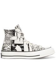 + JW Anderson Chuck Taylor All Star printed canvas high-top sneakers