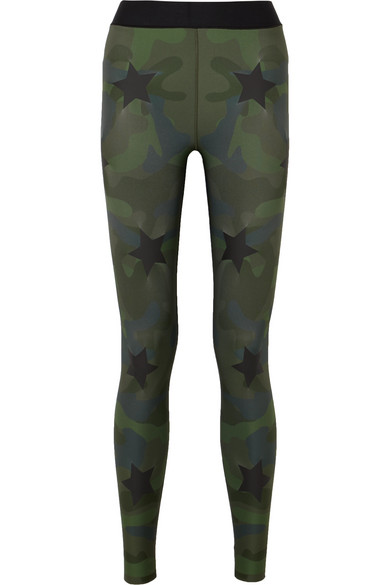 Ultracor KNOCKOUT APPLIQUÉD CAMOUFLAGE-PRINT STRETCH LEGGINGS