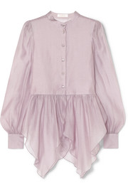 See By Chloé Ruffled organza peplum blouse