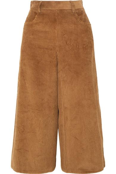 See By Chloé - Cropped Cotton-blend Corduroy Wide-leg Pants - Brown