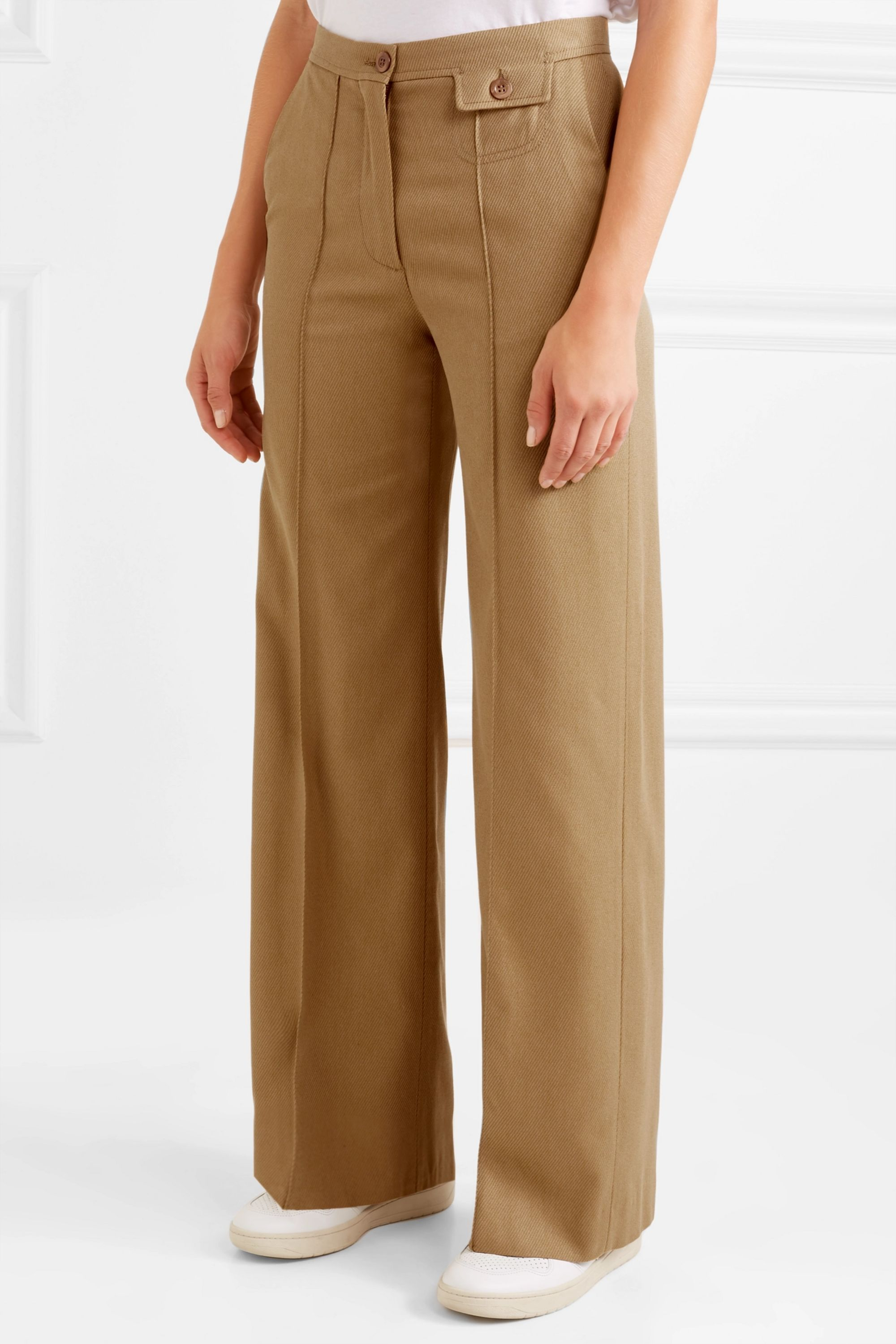 See By Chloé City twill wide-leg pants