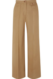 City twill wide-leg pants