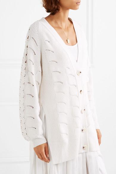 See By Chloé. Cardigan oversize en mailles crochetées 3994af656d7