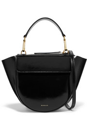 Hortensia mini patent-leather shoulder bag