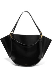 Mia big patent-leather tote