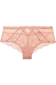 Chantelle Segur satin-trimmed lace and tulle briefs