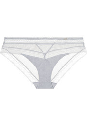 Chantelle Festivité stretch-lace and tulle briefs