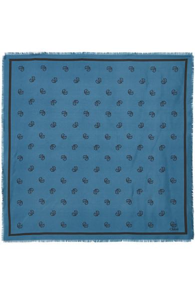 8012c3338b77 Chloé   Foulard en serge de soie imprimée   NET-A-PORTER.COM
