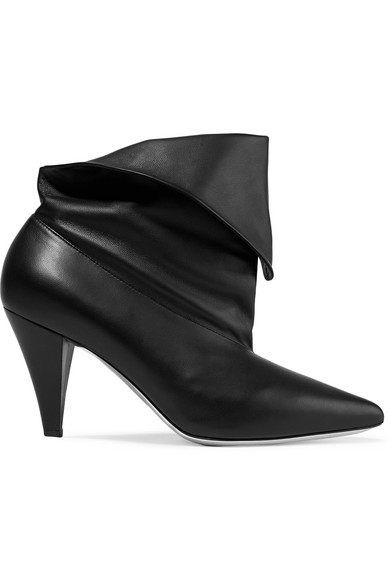 9a03fca7ea1b Givenchy. Fold-over leather ankle boots