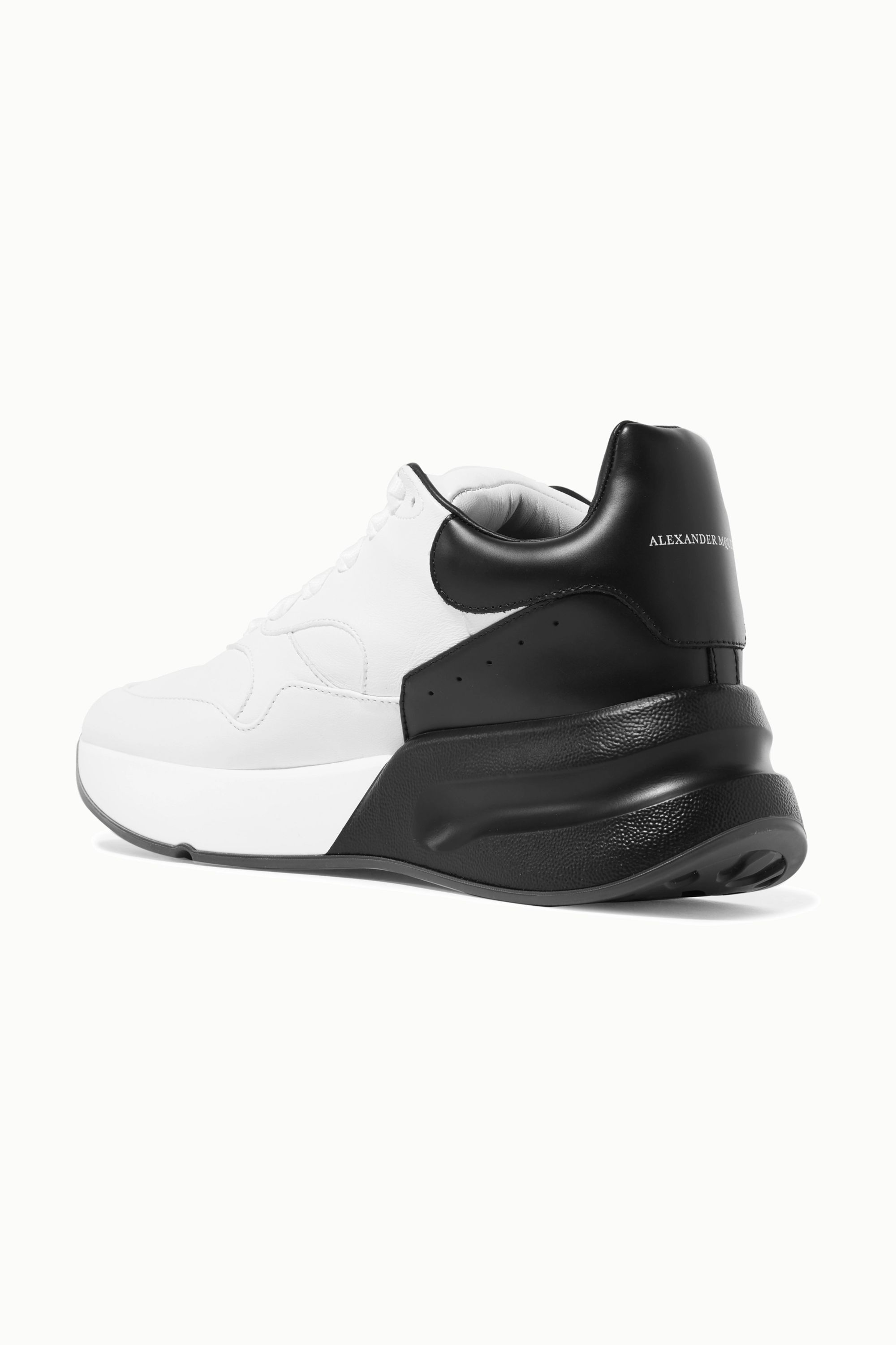 Alexander McQueen Two-tone leather exaggerated-sole sneakers