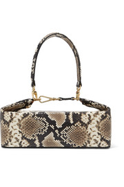 REJINA PYO Olivia snake-effect leather tote
