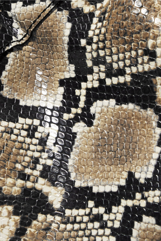 REJINA PYO Rita 蛇纹皮革水桶包