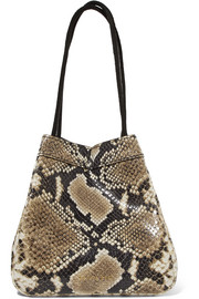Rita snake-effect leather bucket bag