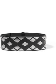 Zony embellished leather waist belt
