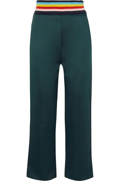 Mira Mikati - Stretch-scuba Jersey Track Pants - Petrol