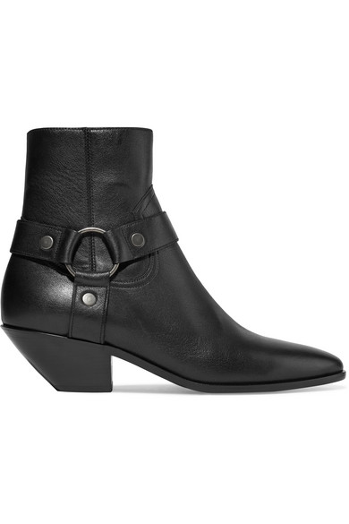 West Ankle Boots In Black Leather.