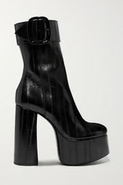 Saint Laurent Billy eel platform ankle boots