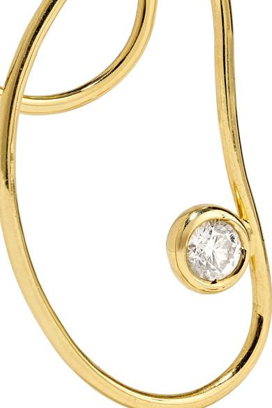 Grace 18-karat Gold Diamond Earring - one size Ana Khouri m51LBrHm