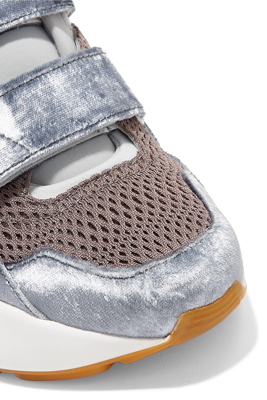 Stella McCartney Eclypse canvas, neoprene, mesh, faux suede and velvet sneakers