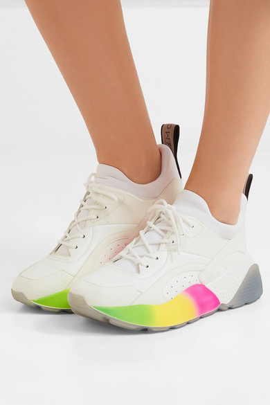 Stella McCartney   Eclypse Sneakers aus Kunstleder, Logo Velourslederimitat und Neopren mit Logo Kunstleder, 6db383
